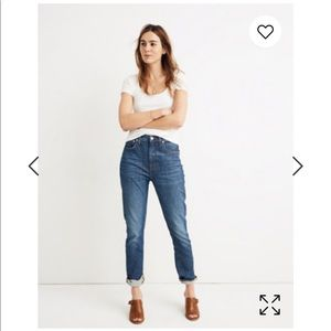 Madewell high rise slim boyjean: eco edition